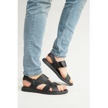 Мужские сандали кожаные летние черные Emirro Т-10