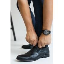 Мужские туфли кожаные весна/осень черные Cevivo 5505