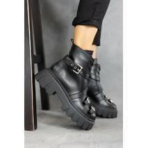 Жіночі черевики шкіряні зимові чорні OLLI К- 134-21163