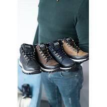 Подростковые кроссовки кожаные весна/осень оливковые-черные высокие Road-style Бс024-04