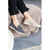 Жіночі туфлі замшеві весна/осінь сірі Multi - shoes Nino