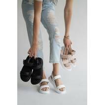 Женские босоножки кожаные летние черные Emirro 10514-01