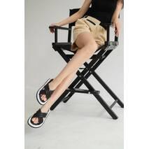 Женские шлепанцы кожаные летние черные Emirro Л 66-01