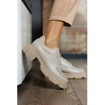 Женские туфли кожаные весна/осень бежевые Udg 21202/125