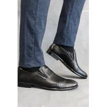 Мужские туфли кожаные весна/осень черные Vivaro 650
