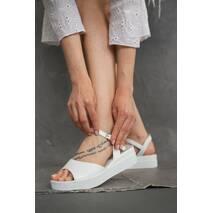 Женские босоножки кожаные летние белые Emirro 205/06/05