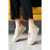 Жіночі туфлі замшеві весна/осінь бежеві Multi - shoes Piano
