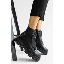 Жіночі черевики шкіряні зимові чорні OLLI К- 226