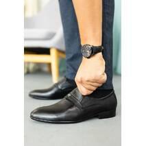Мужские туфли кожаные весна/осень черные Belvas 224 original