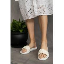 Женские шлепанцы кожаные летние белые Emirro 1059-06