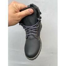 Підліткові черевики шкіряні зимові чорні Brand Тонни