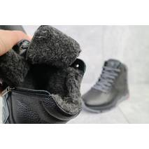 Підліткові черевики шкіряні зимові чорні Milord Olimp