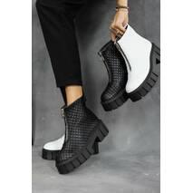 Жіночі черевики шкіряні зимові чорні LIRIO НВ 408