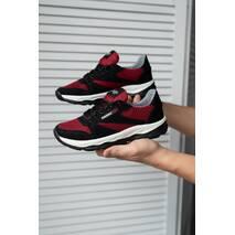 Подростковые кроссовки текстильные летние красные-черные Emirro 21-42 сетка