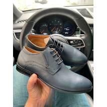 Мужские туфли кожаные весна/осень синие Stas 650-24-04
