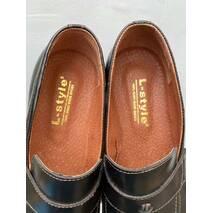 Мужские лоферы кожаные весна/осень коричневые L-Style Brown