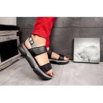 Женские босоножки кожаные летние черные Best Vak Vista Л65-01 Black