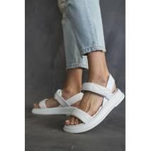 Женские босоножки кожаные летние белые Emirro 10514-06