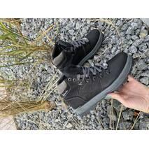 Підліткові кросовки шкіряні зимові чорні Splinter Boy 2718/1 Waterproof