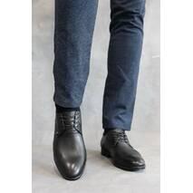 Мужские туфли кожаные весна/осень черные Cevivo 5541