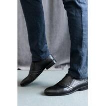 Мужские туфли кожаные весна/осень черные Belvas 189