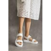 Женские босоножки кожаные летние белые Emirro 1057-06