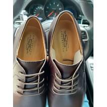 Мужские туфли кожаные весна/осень коричневые Stas 335-26-67