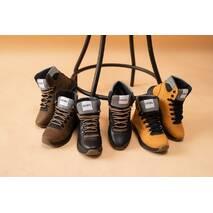 Підліткові черевики шкіряні зимові чорні CrosSAV 328