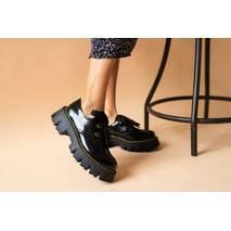 Жіночі туфлі шкіряні весна/осінь чорні Road - style C - 069/2-01 Лак