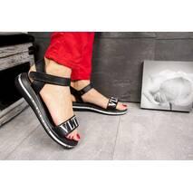 Женские босоножки кожаные летние черные Best Vak VLTN Л 62-01 Black