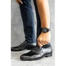 Мужские туфли кожаные весна/осень черные Belvas 173