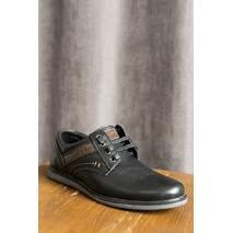 Подростковые туфли кожаные весна/осень черные Rivest 11Т