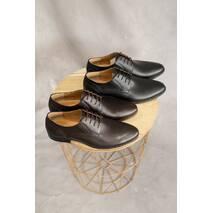 Мужские туфли кожаные весна/осень черные Stas 650-09-04