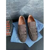Мужские сандали кожаные летние коричневые Vankristi 1161