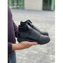 Підліткові черевики шкіряні зимові чорні Monster A