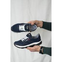 Подростковые кроссовки текстильные весна/осень синие-белые Emirro 21-42 сетка