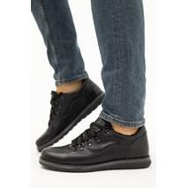 Мужские туфли кожаные весна/осень черные Yuves 650