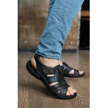 Мужские сандали кожаные летние коричневые Clubshoes С 21