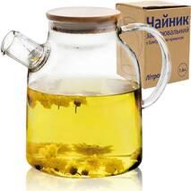 Чайник заварочный с бамбуковой крышкой СНТИ  Литрон 1,6 л (61-14)