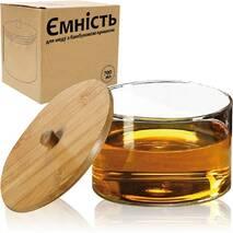 Місткість для меду з бамбуковою кришкою 700 мл СНТИ  32248 (61-16)