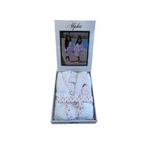 Дитячий халат Maison D'or Alpha Kids White - Pink бавовна 6 років біла