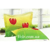Наволочки сатиновые 70-70 см тм Le Vele с тюльпанами