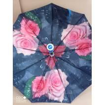 Жіноча парасолька складаний напівавтомат. Подвійна тканина