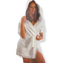 Вафельний халат Maison Dor Greek бавовна біла