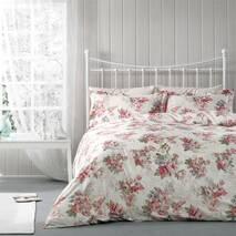 Комплект постільної білизни Tivolyo Home Wisley сатин 220-200 рожевий