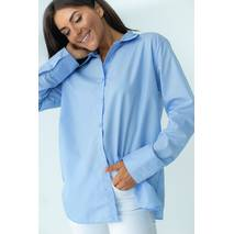 Barley Рубашка с перламутровыми пуговицами - голубой цвет, S