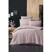 Комплект постільної білизни First Choice Ranforce Deluxe Alisa Powder бавовна 200-220 см рожевий