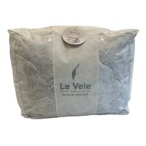 Ковдра Le Vele Perla Damask нанофайбер 155-215 см сіре