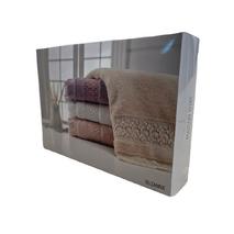 Набір рушників Maison D'or Suzanne Lilla махрові 32-50 см, 50-100 см, 70-140 см фіолетовий