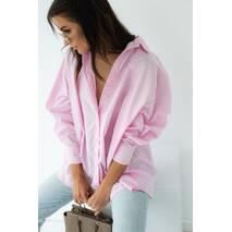 QU STYLE Сорочка з гудзиками на спині - рожевий колір, L
